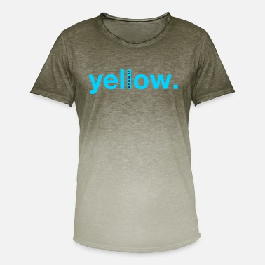 Ambiguous Yellow, cool ambiguous design - Men's Colour Gradient T-Shirt