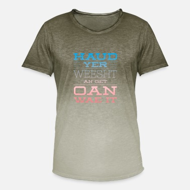 Slang Haud Yer Weesht In red & Blue - Men's Colour Gradient T-Shirt
