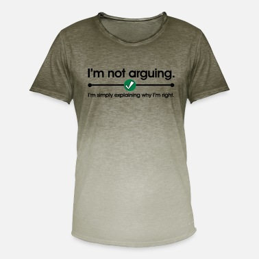 Argue Not Arguing - Men's Colour Gradient T-Shirt