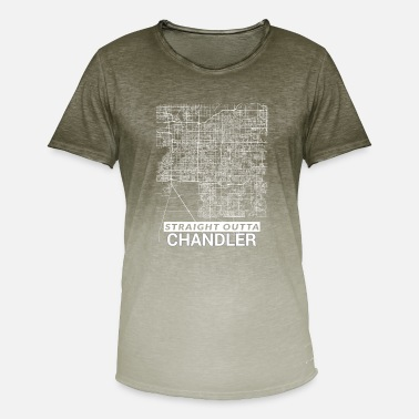 Arizona Straight Outta Chandler city map and streets - Men's Colour Gradient T-Shirt