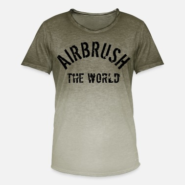 Airbrushcartoon airbrush the world - Männer Farbverlauf T-Shirt