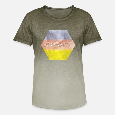 Erfurt Erfurt - T-shirt i colour-block-optik mænd