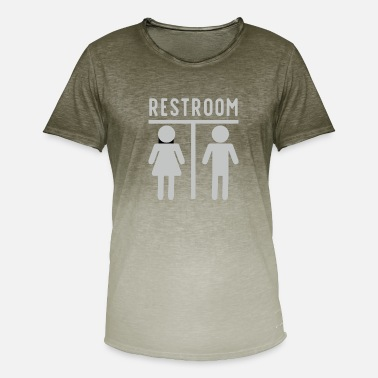 Restroom restroom gift toilet - Men's Colour Gradient T-Shirt