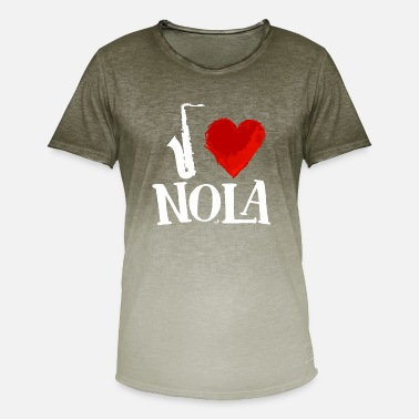 Orleans I Heart New Orleans remix white by Tais Tees - Men's Colour Gradient T-Shirt