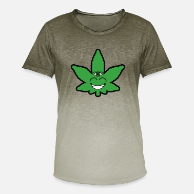Weed Leave Eye - Men's Colour Gradient T-Shirt