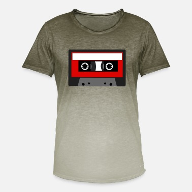 Tape Cassette Tape - Red - Men's Colour Gradient T-Shirt