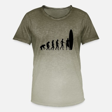 Langbord surfing evolutionære design - T-shirt i colour-block-optik mænd