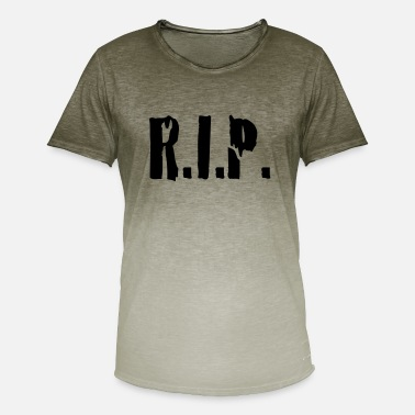 Rest In Peace r.i.p. rip rest in peace - Mannen kleurverloop T-Shirt