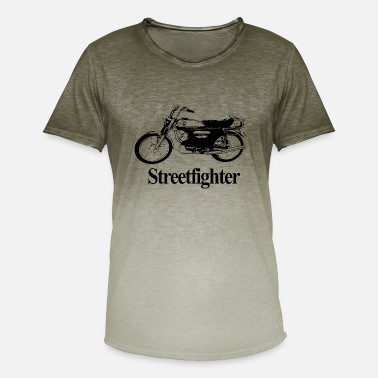 Streetfighter Moped Streetfighter - T-shirt i colour-block-optik mænd