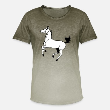 Fuldblod Arabian fuldblods - T-shirt i colour-block-optik mænd