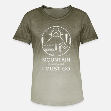 Mountain Hiking Mountain Is Calling Mountaineering Hiking Hiking - Men's Colour Gradient T-Shirt