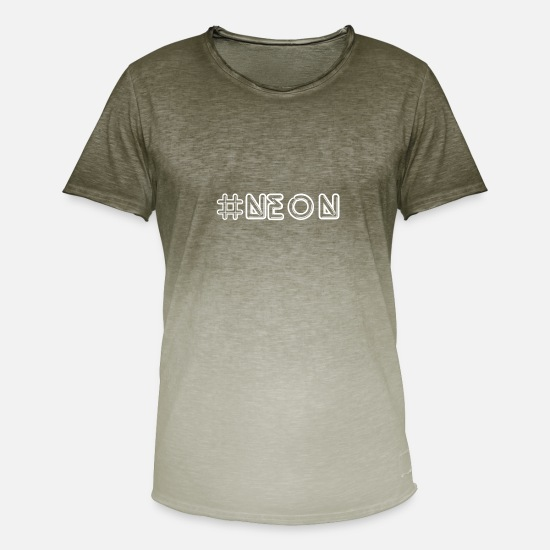 Gift Idea T-Shirts - neon - Men's Colour Gradient T-Shirt dip dye khaki