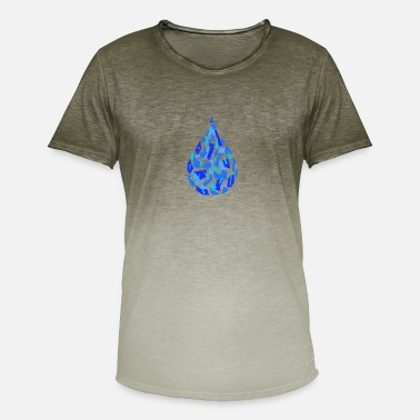 Drop Water drops polygon - Men's Colour Gradient T-Shirt