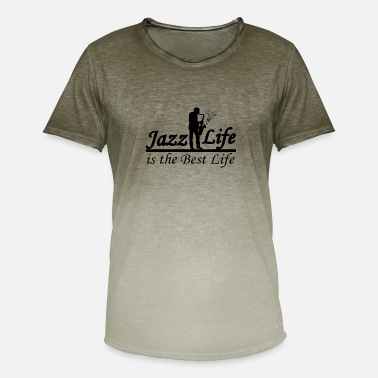 Band Musiciens Jazz Life Band - T-shirt dégradé Homme