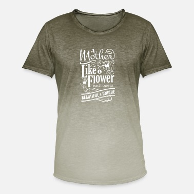Mothers Day design for Wife - Mother is like a - Men's Colour Gradient T-Shirt
