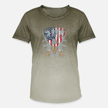 Us Army Private PV1 US Army, Mision Militar US Army - Mannen kleurverloop T-Shirt