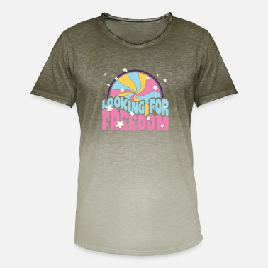 Looking for freedom retro peace hippie gift - Men's Colour Gradient T-Shirt