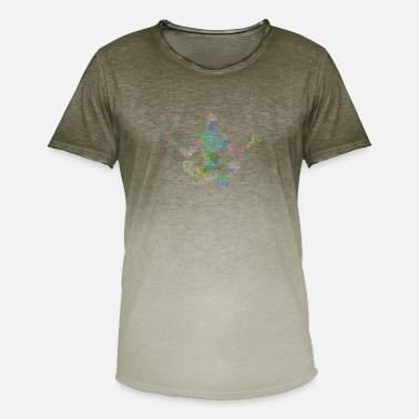 Psychedelic Psychedelic meditation - Men's Colour Gradient T-Shirt