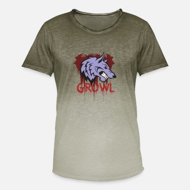 Growl Wolf growls - Men's Colour Gradient T-Shirt