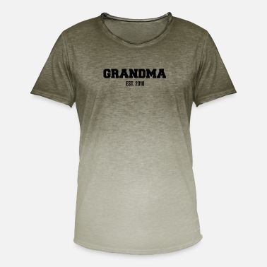 Grandma Est. 2018 Gender Reveal - Camiseta degradada hombre