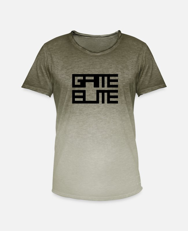 Gamepad T-Shirts - Game Elite - Men's Colour Gradient T-Shirt dip dye khaki