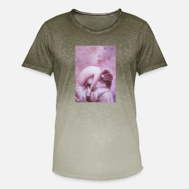 pink dame - T-shirt i colour-block-optik mænd