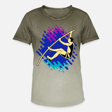 Stangspring High Jump Pole Vault Leichathletik Gave - T-shirt i colour-block-optik mænd