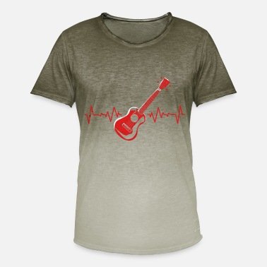 Guitarra Flamenco guitarra - Camiseta degradada hombre