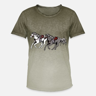 Quarterhorse Horses Horse West Westernpfgerd Quarterhorse - Men's Colour Gradient T-Shirt