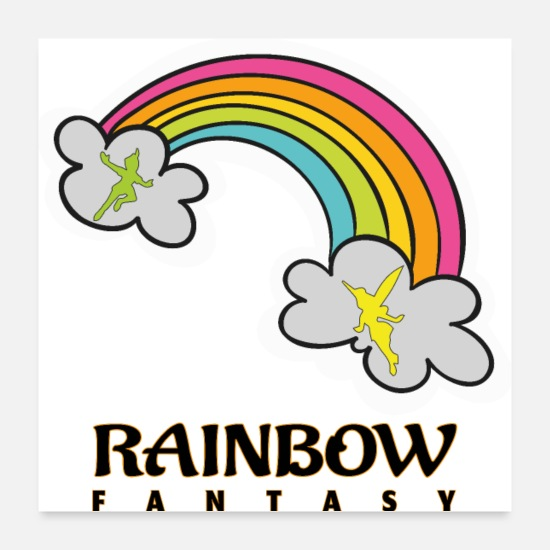 Gift Idea Posters - Rainbow Fantasy - Posters white