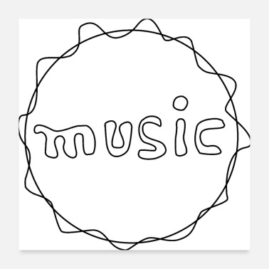 Emblem Music emblem. Gift for every music lover! - Poster 24 x 24 (60x60 cm)
