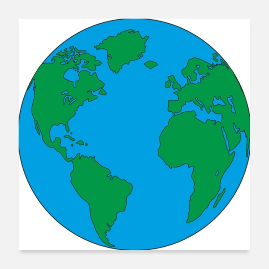 South America Posters - Mother Earth home and blue planet with America - Posters white