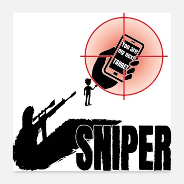 Target Sniper, militarym soldier, you are next target - Poster
