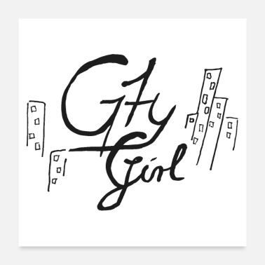 Clipart Écritures City Girl (Clipart vectoriel) - Poster