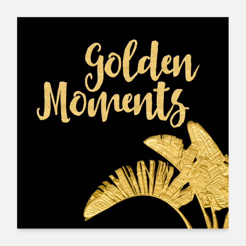 Typografie Poster - Golden Moments - Poster Weiß