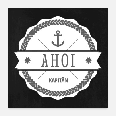 Distintivo Ahoy Capitano Badge - Poster