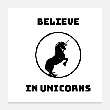 Parents Believe In Unicorns - Poster 24 x 24 (60x60 cm)