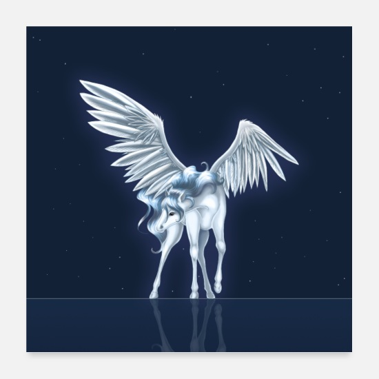 Mythical Poster - Pegasus 9 [Poster Version] - Poster bianco