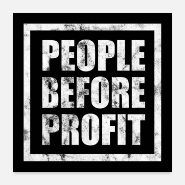 Occupy People Before Profit Poster - Anticapitalism - Poster