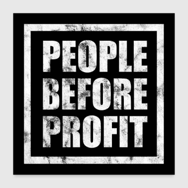 People Before Profit - Anticapitalism (oscuro) - Póster 60x60 cm