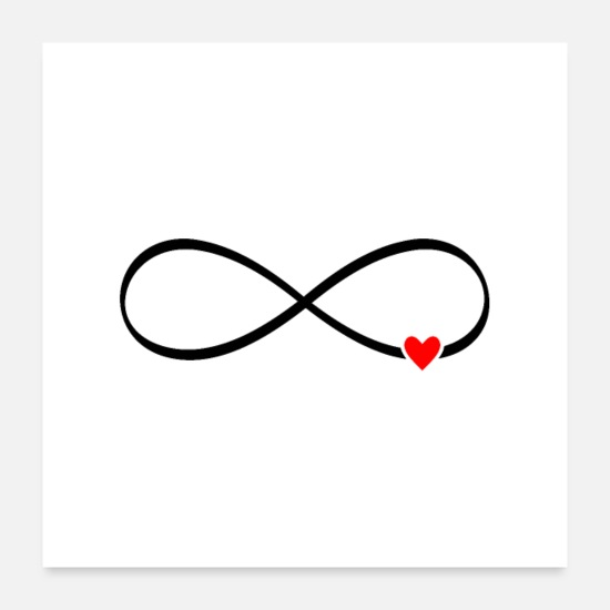 Mariage Posters - amour infini - coeur signe infini - Posters blanc