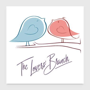 The Love branch - Poster - Poster 60x60 cm