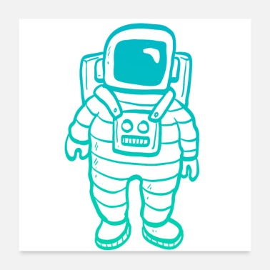 Clipart Astronaut Clipart - Poster