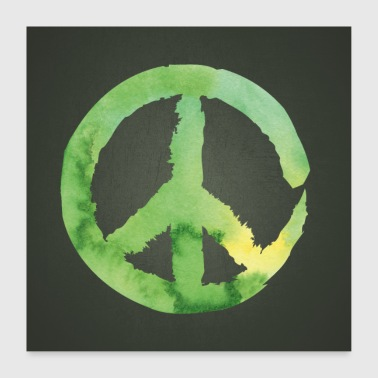 Peace Green Poster Square - Poster 24 x 24 (60x60 cm)