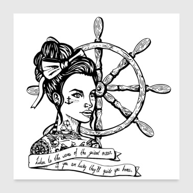 Sailor Woman - Poster 24 x 24 (60x60 cm)