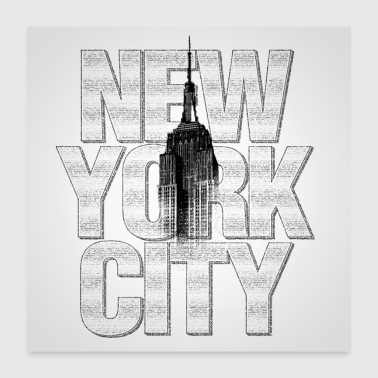 New York Empire State Building Poster Square - Poster 24 x 24 (60x60 cm)