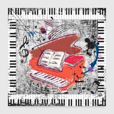 Grunge piano - Poster - Poster 24 x 24 (60x60 cm)