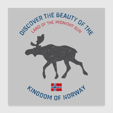 Norway vintage button (poster) - Poster 60x60 cm