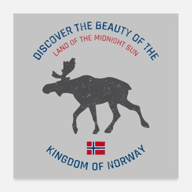 Scandinavia Norway vintage button (poster) - Poster 24 x 24 (60x60 cm)