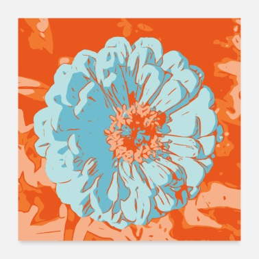 Strike Flower pictures Gerbera orange_01 - Poster 24 x 24 (60x60 cm)